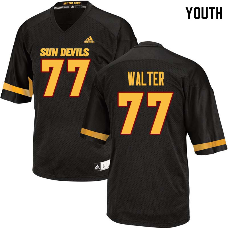 Youth #77 Mason Walter Arizona State Sun Devils College Football Jerseys Sale-Black