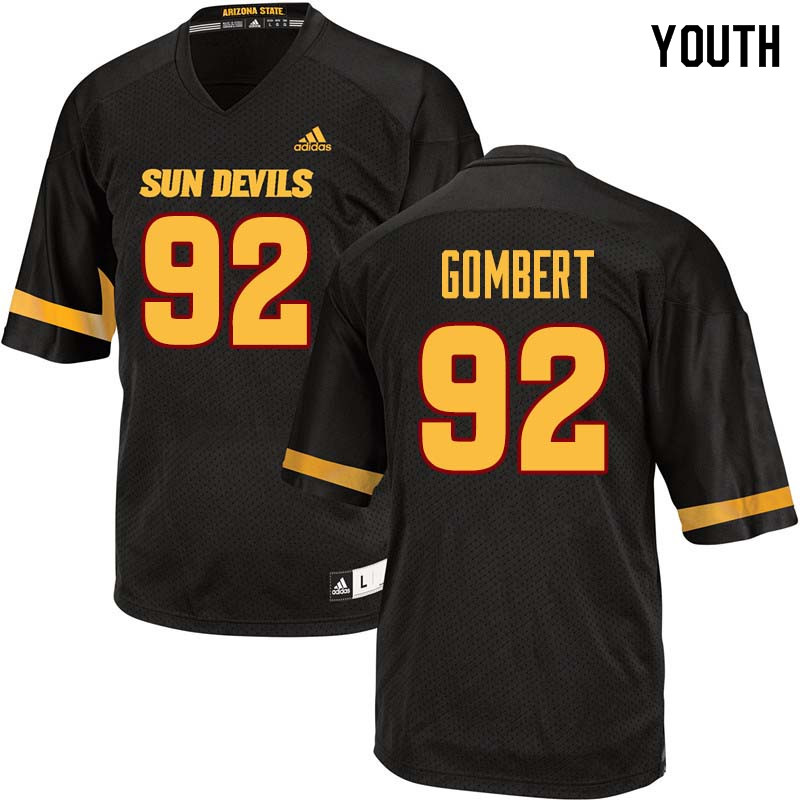 Youth #92 Michael Gombert Arizona State Sun Devils College Football Jerseys Sale-Black