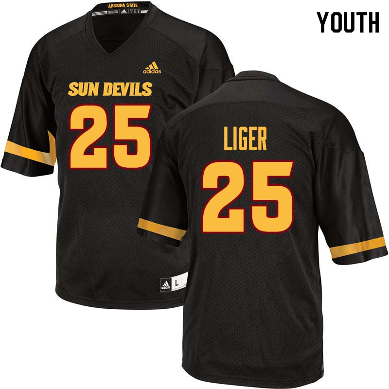 Youth #25 Preston Liger Arizona State Sun Devils College Football Jerseys Sale-Black
