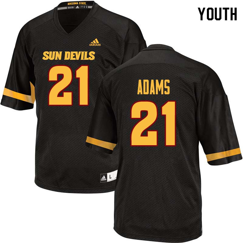 Youth #21 Terin Adams Arizona State Sun Devils College Football Jerseys Sale-Black